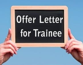training offer letter format