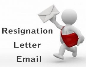 sample resignation letter email
