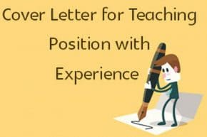 cover letter for teaching position examples