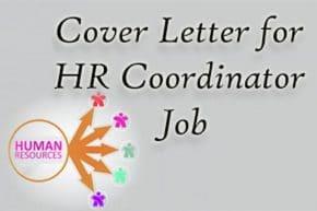 Cover Letter for HR Coordinator Job