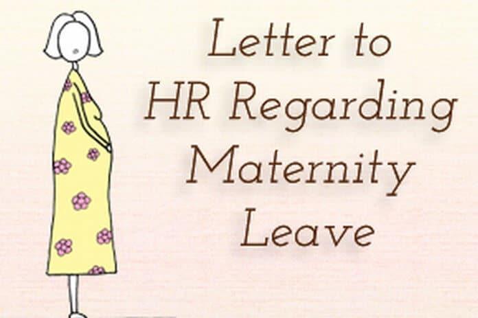 Sample Letter To HR Regarding Maternity Leave