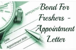 appointment letter for bond freshers
