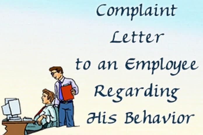 u00bb how to write a complaint letter to an employee regarding