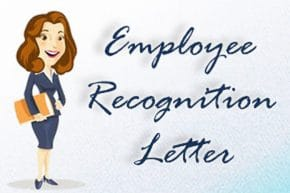 Employee Recognition Letter with Sample