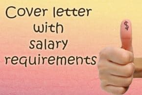 cover letter with salary requirements sample