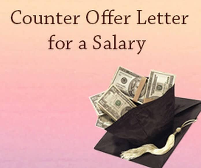 How to write a counter offer salary sample