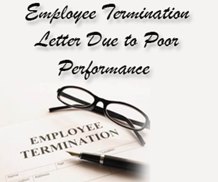 Employee Termination Letter Due To Poor Performance  Hr Letter Formats