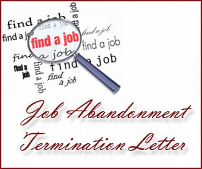 u00bb job abandonment termination letter sample