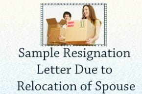 Resignation Letter for Spouse Relocation