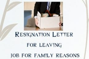Resignation letter for leaving job for personal or family reasons that you are compelled to leave your job all of a sudden because of sudden circumstances some emergencies at personal front or family front force you altavistaventures Image collections