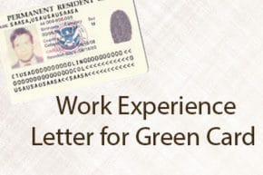 Work Experience Letter for Green Card | HR Letter Formats