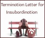 termination letter for insubordination