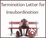 termination letter for insubordination