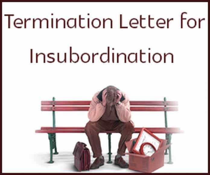 u00bb sample termination letter for insubordination