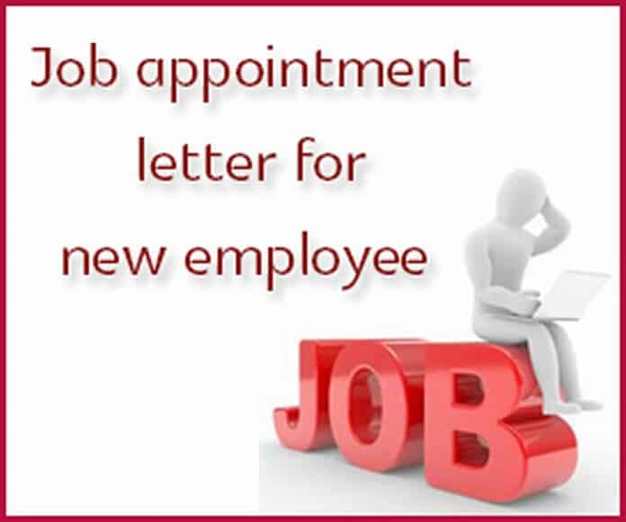 u00bb job appointment letter for new employee