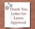 Thank You Letter for Leave Approval