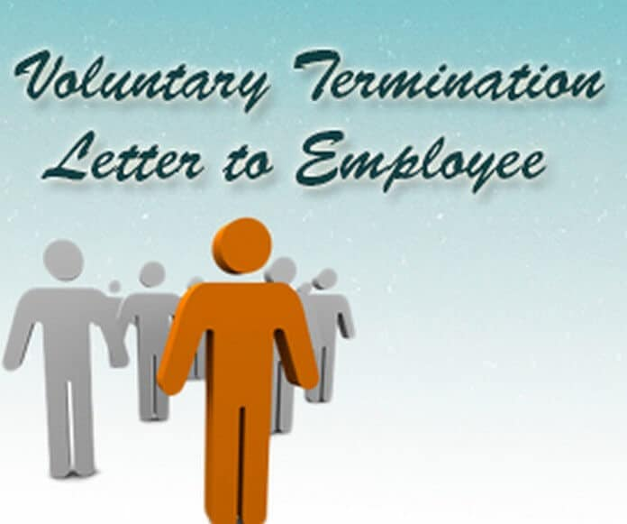 u00bb voluntary termination letter to employee