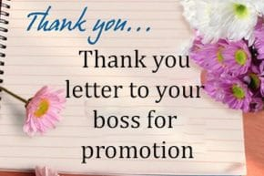 Thank You Letter to a Boss for a Promotion
