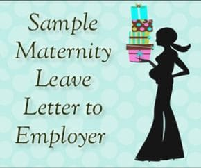 Maternity Leave Letter To Employer