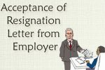 Acceptance of Resignation Letter from Employer