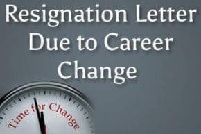 sample resignation letter due to career change hr letter formats