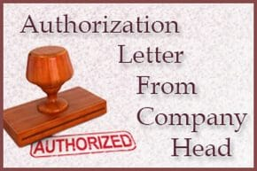 Authorization Letter From Company Head