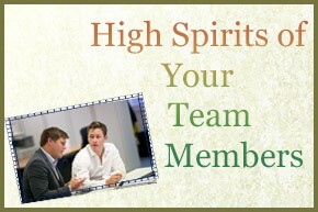 High Spirits of Your Team Members tips