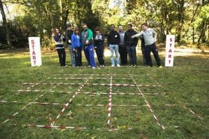 Cross the Minefield Team Building Game
