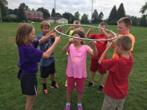 Hula Hoop Circle Team Building Game
