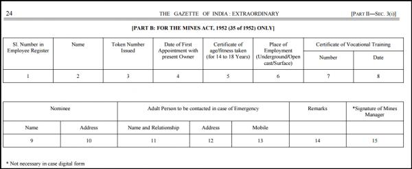 Employee Register Form A- Part B