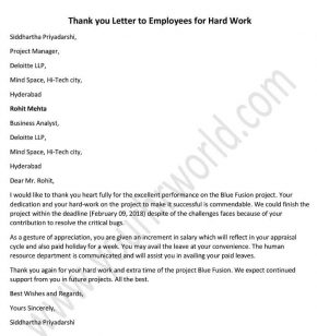 Community for human resources professionals thank you letter to employees for hard work sample example letter spiritdancerdesigns Images