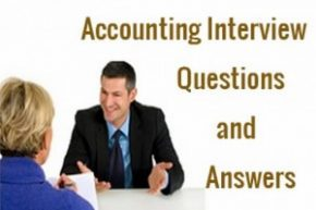 accounting job interview questions and answers