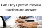 Data Entry Operator interview questions and answers
