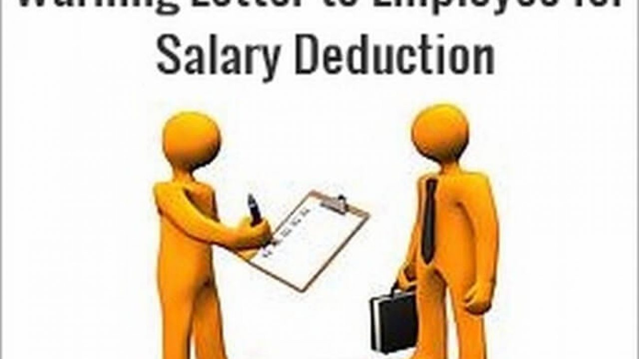 Warning Letter to Employee for Salary Deduction - HR Letter