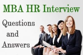 MBA HR Interview questions for Freshers