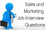 Sales and Marketing Job Interview questions and answers