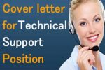Sample Cover letter for Technical Support Position