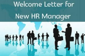 new hr manager welcome letter