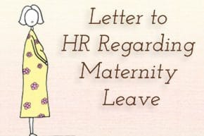 Letter to HR Regarding Maternity Leave