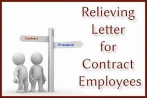 Relieving Letter for Contract Employees