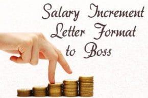 Salary Increment Letter to Boss