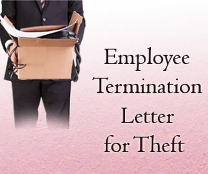 sample employee termination letter for theft