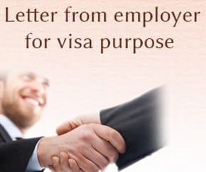 Letter from Employer for Visa Purpose