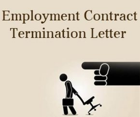 Employment Contract Termination Letter format