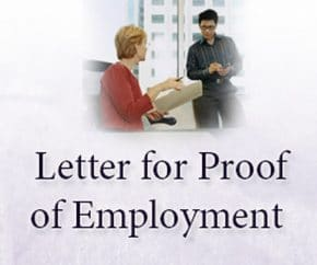 formal letter for proof of employment