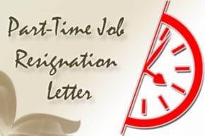 Part-Time Job Resignation Letter
