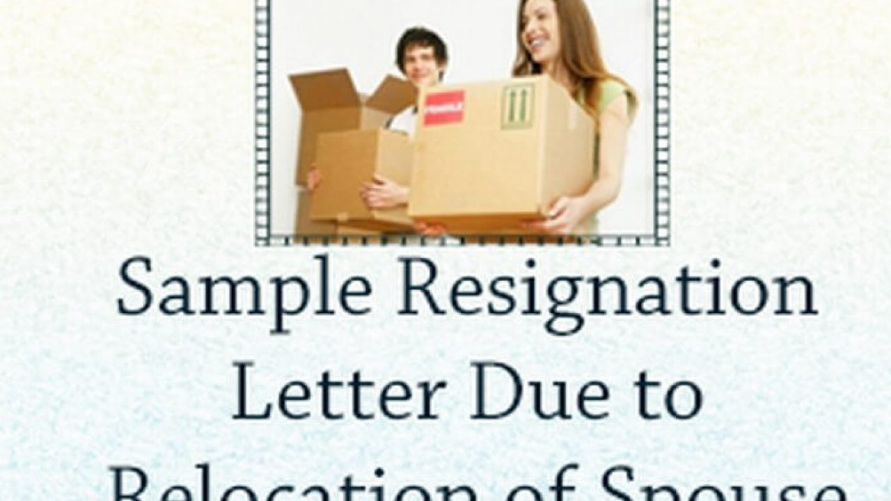 Resignation Letter Due To Moving from www.yourhrworld.com