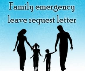 Family Emergency Leave Request Letter
