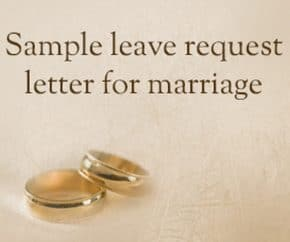 Leave Request Letter for Marriage - HR Letter Formats