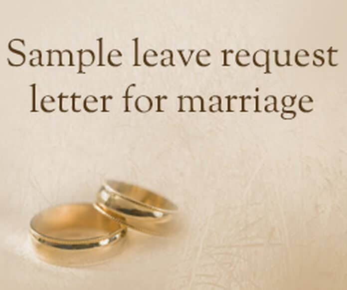 leave request letter for marriage